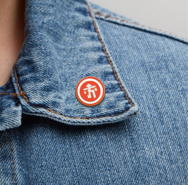 Hawkers-Merchandise-Orange-Talisman-Lapel-Pin-Design-Jacket