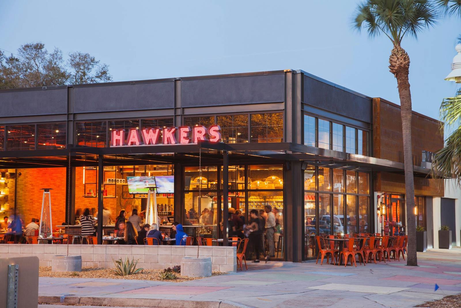 hawkers exterior building