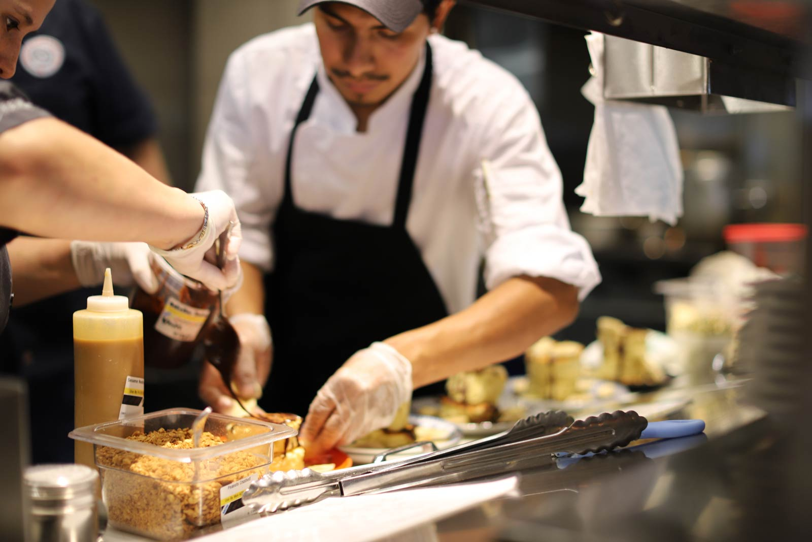 chef making dish